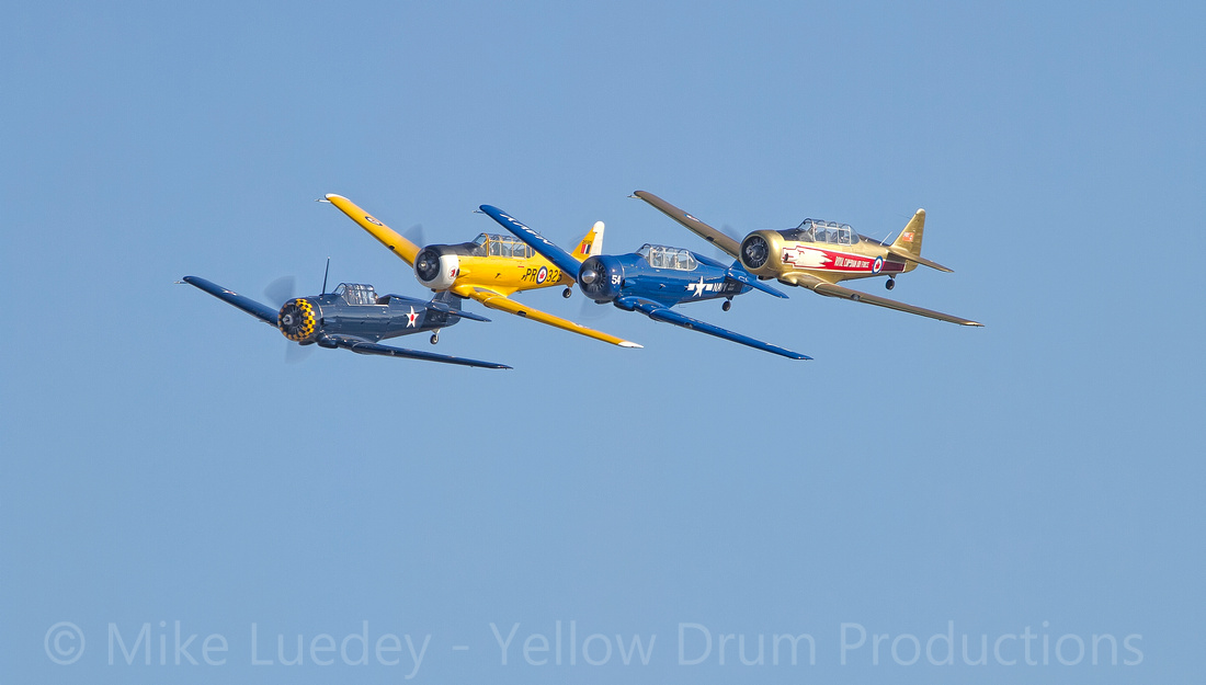 4-ship T-6 formation - what a great show!