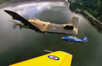 Raider flight over Anacortes