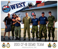 The 2013 CF-18 Demo Team (West)