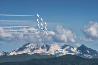 2015 Canadian Forces Snowbirds crossing Mt.Baker - Abbotsford, BC